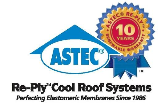 Astec re-ply cool roof systems commercial roofing fort wayne, indiana