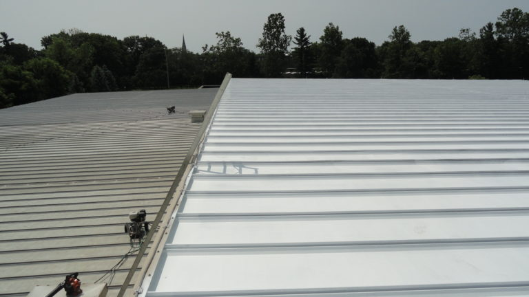 Commercial warehouse roof repair in Notre Dame, IN