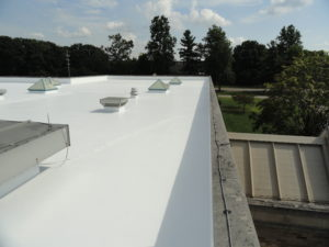 Commercial office roofing repair